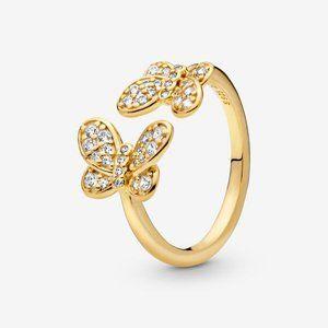 😋Pandora  Butterfly Open Ring